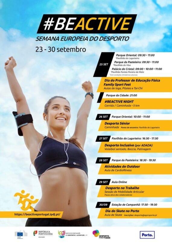 BeActive – Semana Europeia do Desporto – 23-30 de Setembro